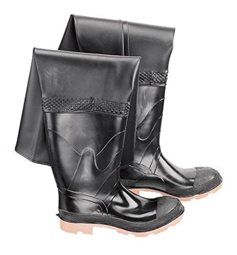 - Bata Shoe 86049-12 Onguard Industries Size 12 Storm King Black 27'' PVC And Polyester Hip Waders With Cleated Outsole, Steel Toe And Removable Insole, English, 15.34 fl. oz, Plastic, 27