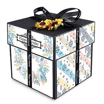 Caja de regalo para álbum de fotos de sorpresa creativa, para celebrar vacaciones, aniversarios