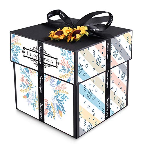 Amazon.com: ANYALYY DIY Creative Surprise Photo Album Gift Box, Make Your Own Meaningful Gift for Lover or Family! (Blue Fantasy)