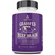 Ancestral Supplements Grass Fed Brain (With Liver) — Supports Brain, Mood & Memory Health (180 capsules)