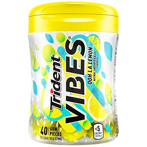 Trident Vibes Gum, Sugar Free, Ooh La Lemon, 3.25 oz