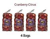 Hosley Cranberry Citrus Potpourri - Set of 4/4 oz each. Ideal dried floral arrangements Orbs, Potpourri Just As Decor O7