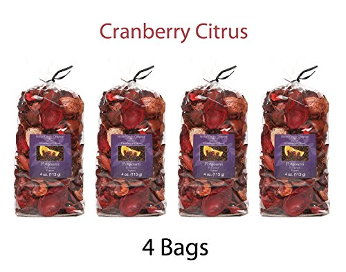 Hosley Cranberry Citrus Potpourri - Set of 4/4 oz each. Ideal dried floral arrangements Orbs, Potpourri Just As Decor O7 by Hosley