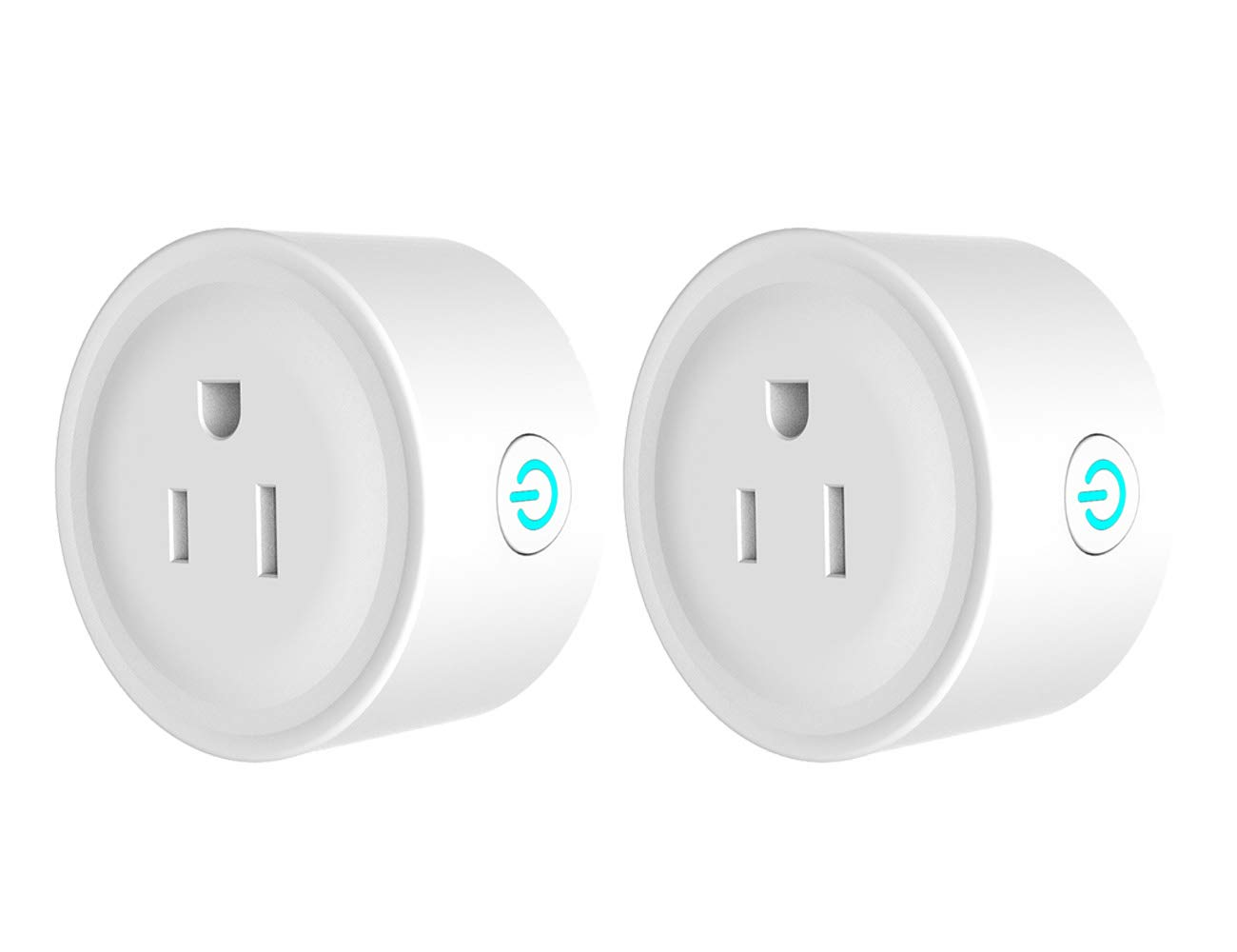 Compatible with Alexa Echo Dot Works with Google Assistant WiFi Smart Plug Outlet JCBritw Mini Power Socket Outlet Timer Digital Echo Switches Remote Control No Hub Required