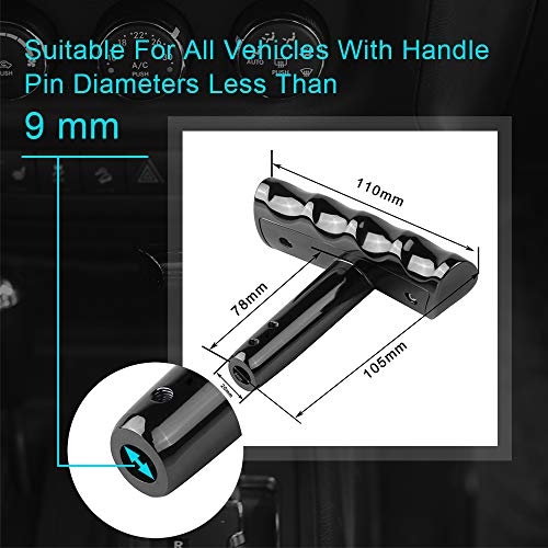 cartaoo T-Handle Gear Shift Knob Handle for Jeep Wrangler Jeep Dodge Charger Challenger Compass Black