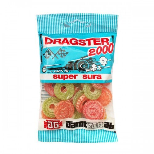 3 Bags x 50g of Dragster 2000 Super Sura - Original - Swedish - Fruit - Sour - Wine Gums - Candies - Sweets