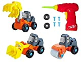 Educational Take-A-Part Truck For Kids with 27 Pieces |Bulldozer, Excavator, Cement Roller