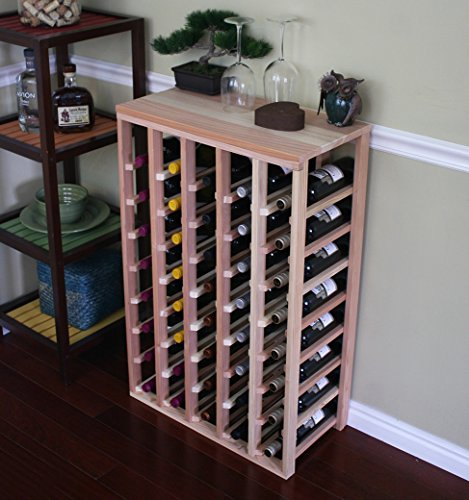 Creekside 40 Bottle Table Wine Rack (Redwood) by Creekside - Exclusive 12 inch deep design conceals entire wine bottles. Hand-sanded to perfection!, Redwood