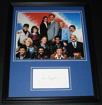 Jon Cypher Signed Framed 11x14 Photo Put Hill Street Blues