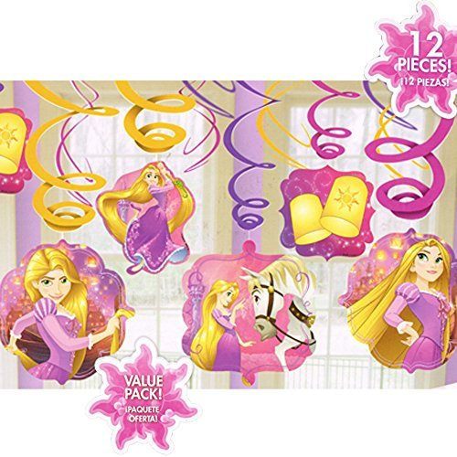 Tangled 'Dream Big' Hanging Swirl Decorations (12pc) ()