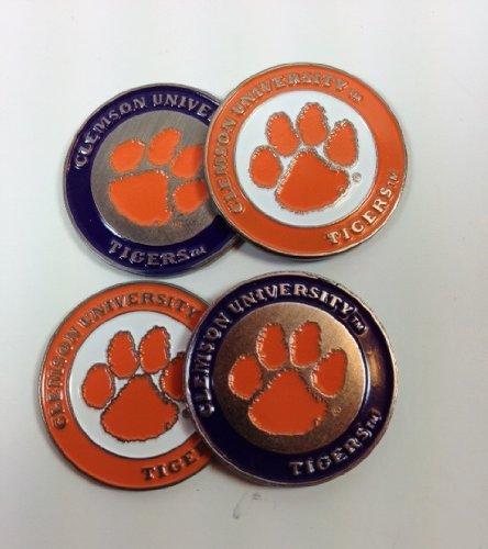 Clemson 2-sided Golf Ball markers (lot of (Clemson University Golf)
