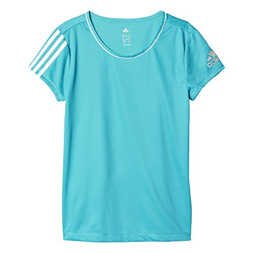 adidas Mädchen T-Shirt YG T C Tee, Blau, 140, 4055343827902