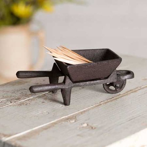 CTW Home Collection Cast Iron Small Wheelbarrow Caddy by CTW Home Collection (Image #1)