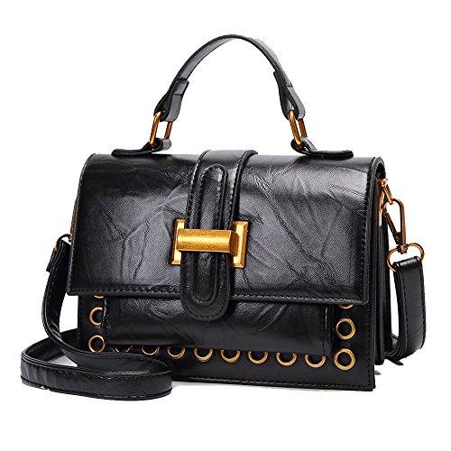 Sac à Shopping Black Bandoulière à à Tempérament Bandoulière Vintage Femmes ZLLNSXKB Des Sac Sac De Sauvage Main La Mode qxUwFx567T