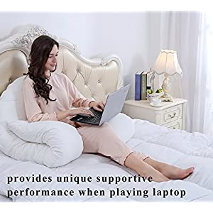 QUEEN ROSE Pregnancy Body Pillow/Maternity Pillow for Back Pain with 1 Removable Pillow Cover