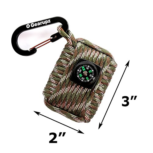 Gearupz-Survival-Kit-Fishing-Hunting-Hiking-Gear-Paracord-Bracelet-Emergency-Preparedness-Mini-Bug-Out-Bag-for-Hiker-Camper-or-Backpacker-Light-Compact-18-Pieces-In-One