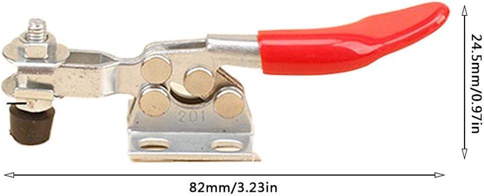 201 Festhalten Schnellspanner Verriegelung Antirutsch Rotes Handwerkzeug Haltekapazit/ät Antirutsch Horizontal Schnellspanner Heavy Duty