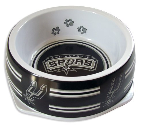 Sporty K9 NBA San Antonio Spurs Pet Bowl, Large by Sporty K9