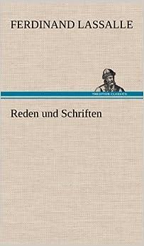 Book Reden und Schriften