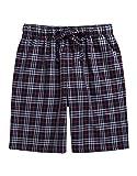 TINFL Men's Plaid Check Cotton Lounge Sleep Shorts MSP-SB002-DarkGrey XXL