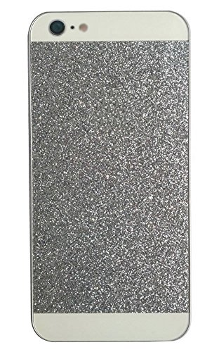 5C Case, I'EXCEL Luxury Beauty Hybrid Hard PC Shiny Bling Glitter Sparkle with Crystal Rhinestone Cover Case for iphone 5C (Hard Silver)