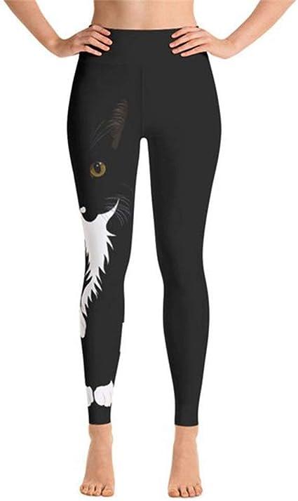 Leggins Mujer Fitness Mallas Gimnasio Pilates, Gato de la mujer imprime leggings pantalones de yoga de moda delgado capri verano pantalones largos flacos pantalones de chándal atlético medias Activewe: Amazon.es: Hogar