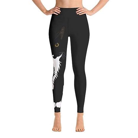 Pantalones Deportivos Yoga, Gato de la mujer imprime ...