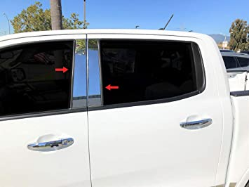 Made in USA Works with 2019 Ford Ranger Crew Cab Lower Accent Body Side Molding Trim 1 1//4 4PC