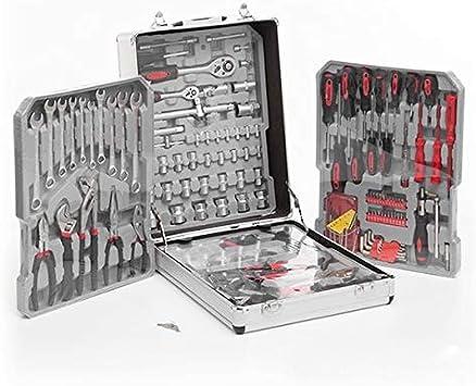 TSC – Caja Maletín herramientas transportable con ruedas (186 piezas Interior Exterior, maleta inoxidable, asa de transporte, caja de herramientas universal para el bricolaje,: Amazon.es: Bricolaje y herramientas