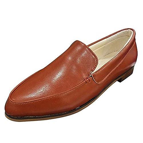 Mocasines Mujer Piel Oxford Derby Planos Tacón Ancho 2.5 CM Loafers Comodos Moda Zapatos De Barco Verano Negro Marrón Rosa 35-43: Amazon.es: Zapatos y ...