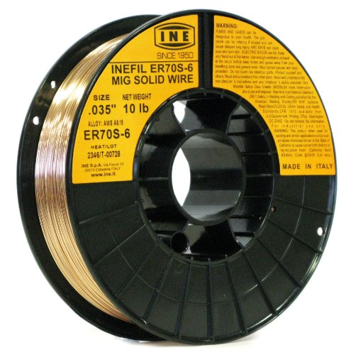 Wire Size Welding - INEFIL ER70S-6 .035-Inch on 10-Pound Spool Carbon Steel Mig Solid Welding Wire