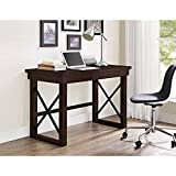 Easy to Assemble, Charming, Stylish, Large Desktop Surface Better Homes and Gardens Preston Park Desk, Mahogany, Dark Oak Finish