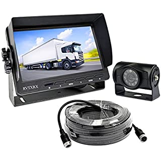 Sale Backup Camera System with 7 inch Definition Display + IP69 Waterproof and Night Vision Reverse Camera for Truck Trailer RV Motorhome etc.