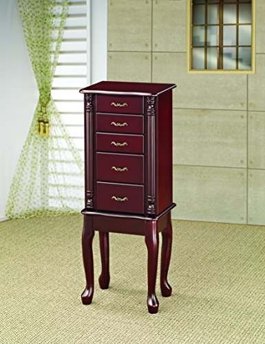 Coaster 900144 Jewelry Armoire, Cherry