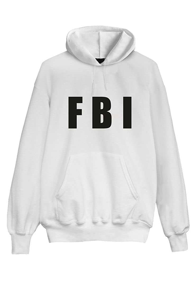 FBI Hoodie Kapuzenpullover Unique Pullover Hooded Sweat Weiß