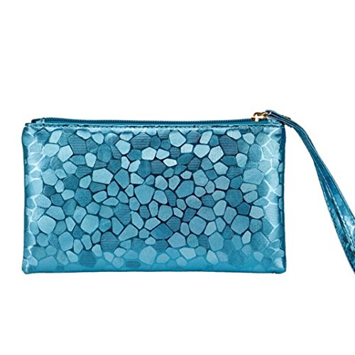 Blue Bags Zero Women Lively Zipper Purse Phone Change Coins Wallet Clutch Key Fashion Paymenow Stone Texture awgZFCqR