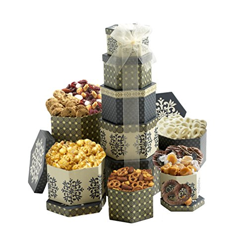Broadway Basketeers Token of Appreciation Gift Tower (Food Thank You Gifts)