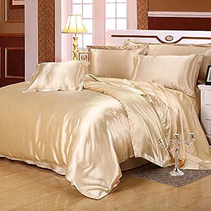 Champagne Silk Bedding Luxury Bedding Silk Duvet Cover Set Silk Duvet Cover  Silk Pillowcase, Full