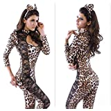 HECHAI_Leopard lace Lions loaded + Catwoman theatrical uniform onesies