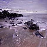 Rocks on the beach, Iceland 30x40 photo reprint