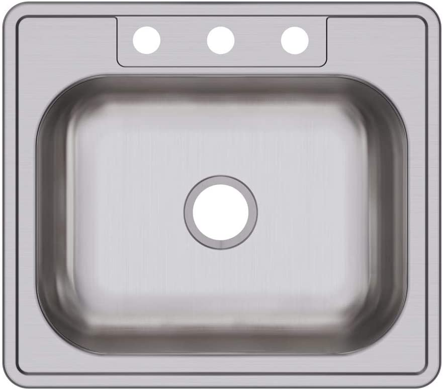 Dayton D125223 Single Bowl Top Mount Stainless Steel Sink