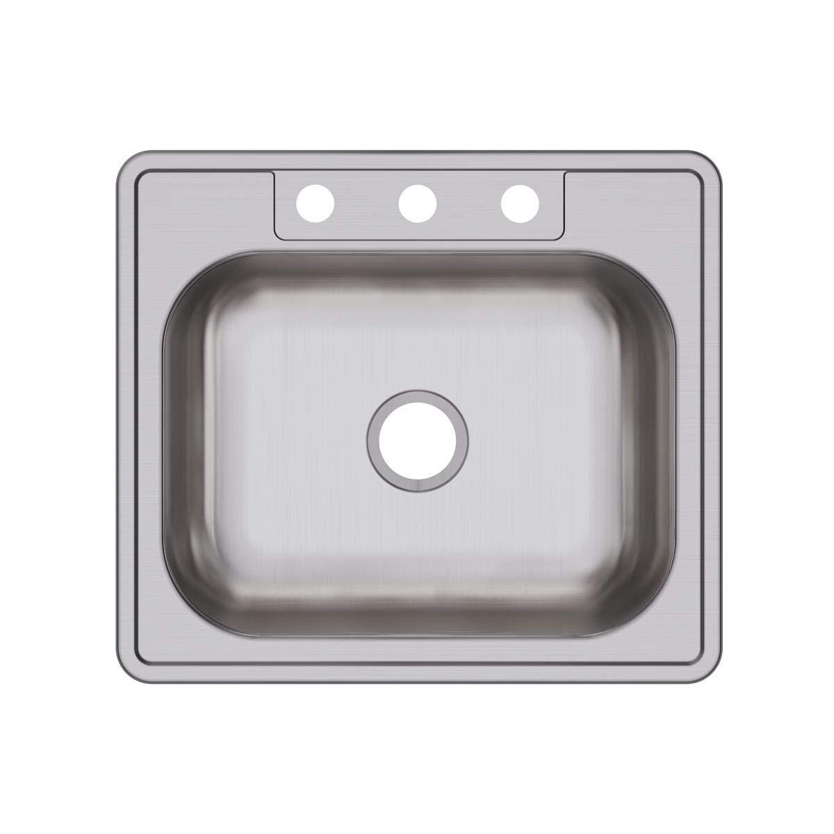 Dayton D125223 Single Bowl Top Mount Stainless Steel Sink by Elkay