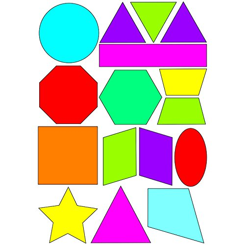 ASHLEY PRODUCTIONS MATH DIE CUT MAGNETS SHAPES (Set of 6)