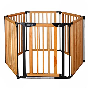 Amazon Com New Clevr 3 In 1 Baby 6 Panel Playard Playard Wooden
