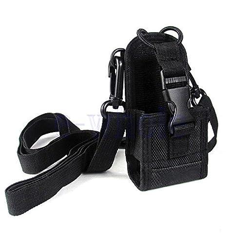 Shalleen MSC-20D Nylon Bag Pouch Holster Case For Baofeng Motorola Kenwood Radio (Motorola Pocket Pc)