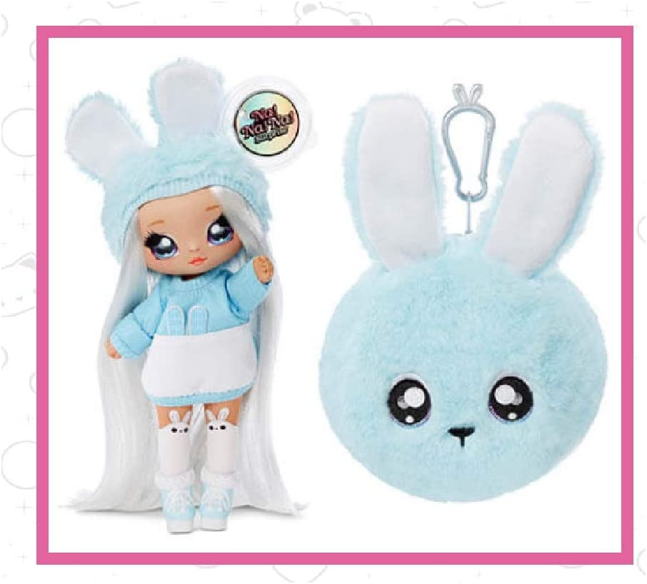 Series 2 Na Na Na Surprise ASPEN FLUFF Bunny 2 IN 1 Fashion Doll Plush Pom Purse