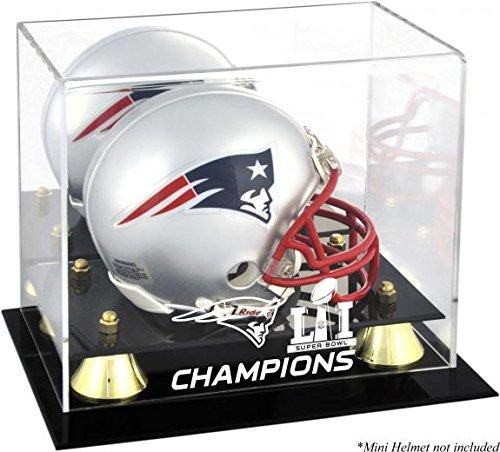 New England Patriots Super Bowl LI 51 Champions Football Mini Helmet Display Case