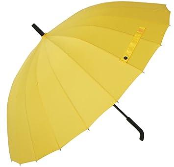 Tinksky – Paraguas Pongee extra grande a prueba de viento Paraguas transparente paraguas