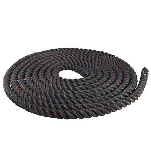 Body-Solid Tools Fitness Training Rope, Black, 2'' Diameter/40' by Body-Solid Tools