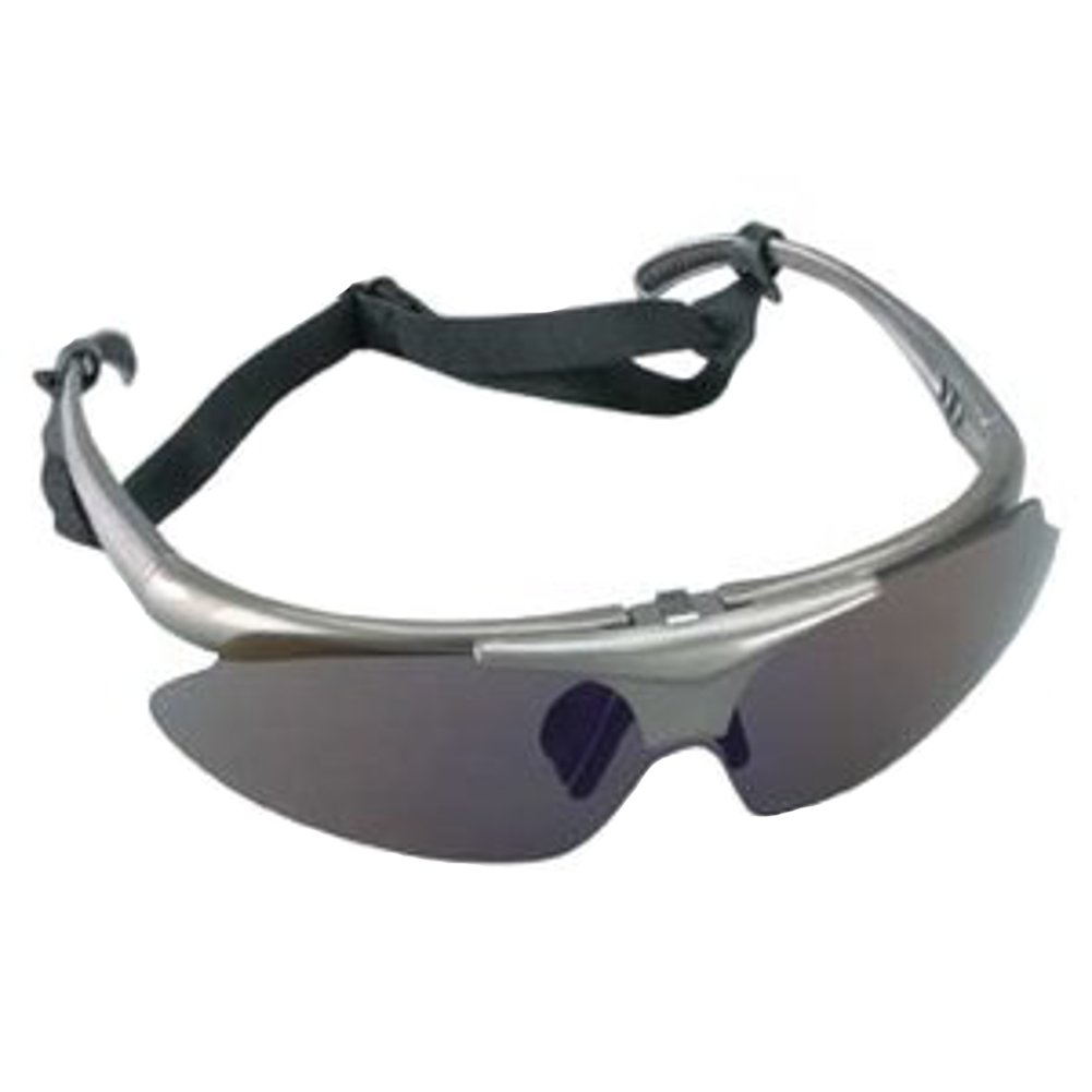 Baseball Flip-up Sunglasses Used by Outfielders & Infielders from Little League to Adult Softball (One Size Fits Most, Adjustable Strap)